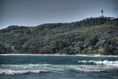 Ondas na costa de byron bay, austrália, 200 — Fotografia Stock