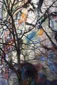 Painted Wall, Vienna, Austria, January 2 — Stock Photo