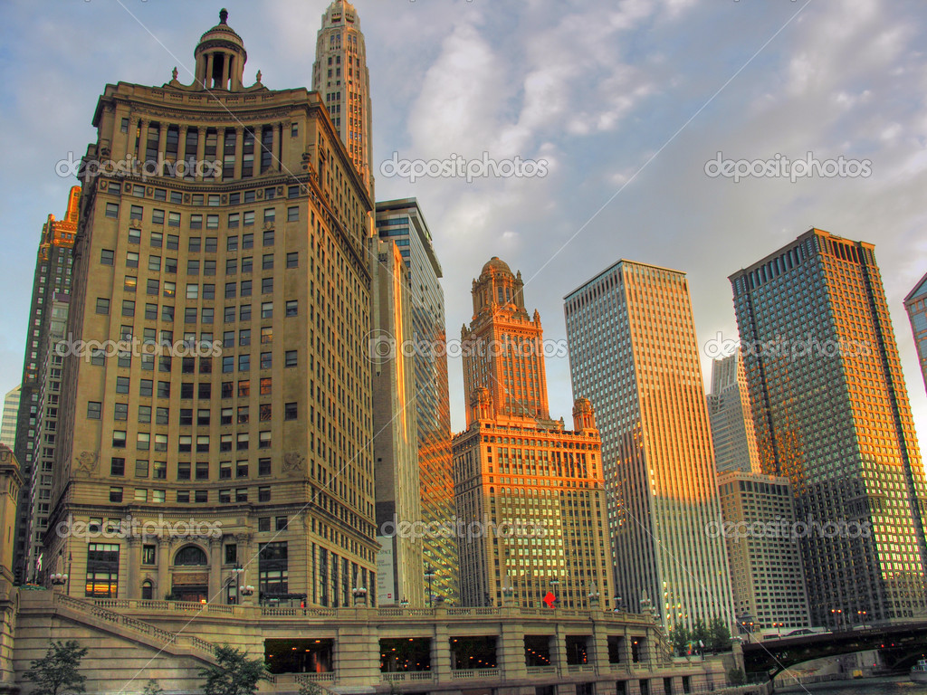 Detail of Downtown Chicago during summer 2005       — Stock Photo #1258522