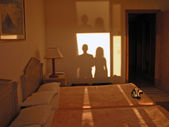 Shadows in the Room, Sharm El Sheikh — 图库照片