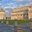 Side view of Baptistery, Pisa - Foto de Stock  