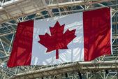 Canadian Flag inside a Stadium — Stock Photo