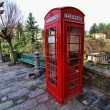 Red Phone Booth, Barga, Italy — Stock Photo #2171647