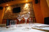 Restaurant interior, Barga, Italy — Stock Photo