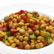 Middle eastern chickpea salad — Stock Photo