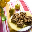 Apple pie with streusel — Stock Photo
