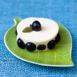 Dessert with blueberries — Stock Photo