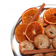 Royalty-Free Stock Photo: Cookies, spices and dryed oranges