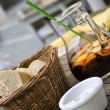 Sangria & bread — Stock Photo