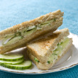 Cucumber sandwich — Stock Photo