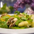 Gourmet asparagus salad — Stock Photo