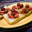 Puff pastry with strawberry — Photo