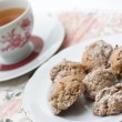 Cookies and a cup of tea — Stock Photo