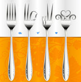 Fork gestures — Stock Photo