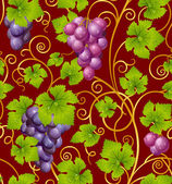 Seamless grape pattern — Stock Photo