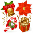 Christmas decoration set — Imagen vectorial