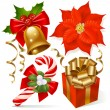 Christmas decoration set — Stockvectorbeeld