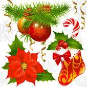 Christmas decoration set — Stock Vector