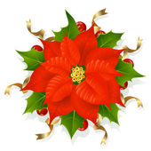 Christmas flower — Stock Vector