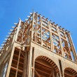 Стоковое фото: Framed Construction House