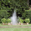Garden Fountain - Stock Photo