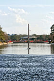 Obelisk on Water — Stock Photo