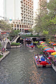 The historic riverwalk in San Antonio Texas — Stock Photo