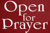 Open For Prayer Sign — Stock Photo