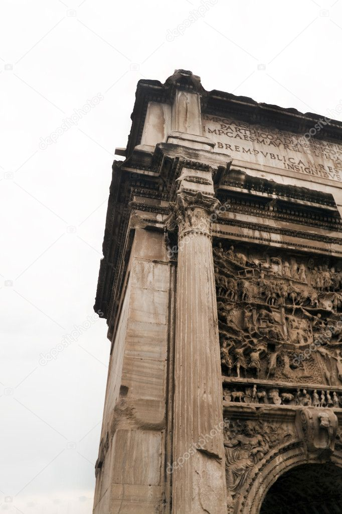The Roman Forum at the heart of Rome (Roma) Italy — Stock Photo #1331818