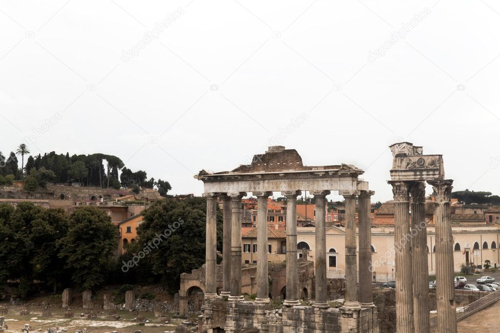 The Roman Forum at the heart of Rome (Roma) Italy — Stock Photo #1331820