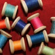 Colorful reels of thread — Stock Photo