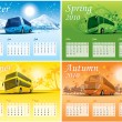 Four-season calendar 2010 — Vector de stock #1257955