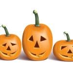 Funny halloween pumpkins — Stock Vector