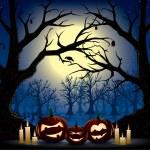 Funny pumpkins on a halloween — Stock Vector