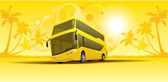 Vacation summer bus — Stock Vector