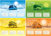 Four-season calendar 2010 — Stock Vector