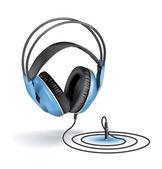 Headphones whith a cord — Stock Vector