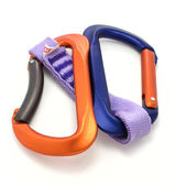 Carabiner and express isoleted — Stock Photo
