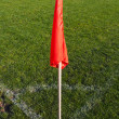 Royalty-Free Stock Photo: Corner flag on an soccer field