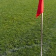 Corner flag on an soccer field — Stock Photo