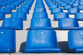 Blue stadium seats — Stock Photo