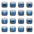 Royalty-Free Stock Imagem Vetorial: Blue icon set