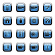 Vector de stock : Blue icon set for web applications