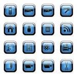 icono azul para aplicaciones web — Vector de stock
