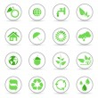 Environmental and recycling icons — Stock Vector