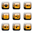 Web and media buttons set — Stock Vector
