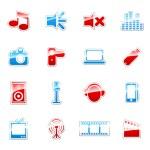 iconos de etiqueta coloreada — Vector de stock