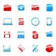 Colored label icons — Stock Vector