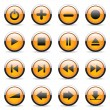 Orange buttons - Imagen vectorial