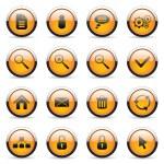 botones naranjas — Vector de stock